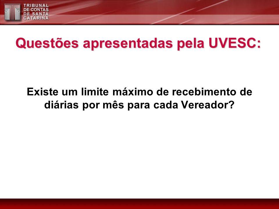 Questões apresentadas pela UVESC: