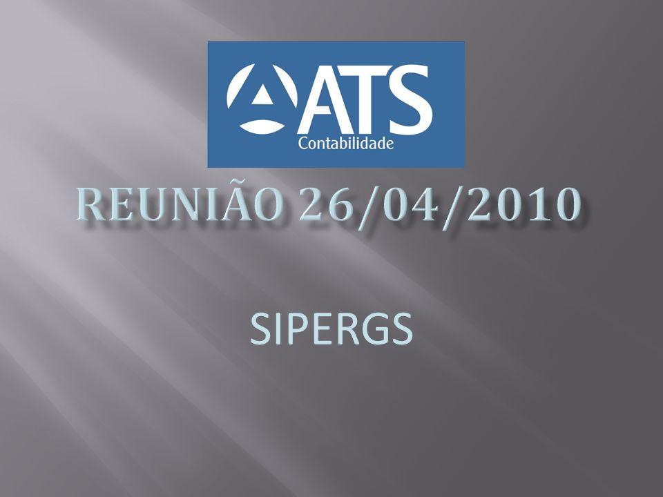 REUNIÃO 26/04/2010 SIPERGS