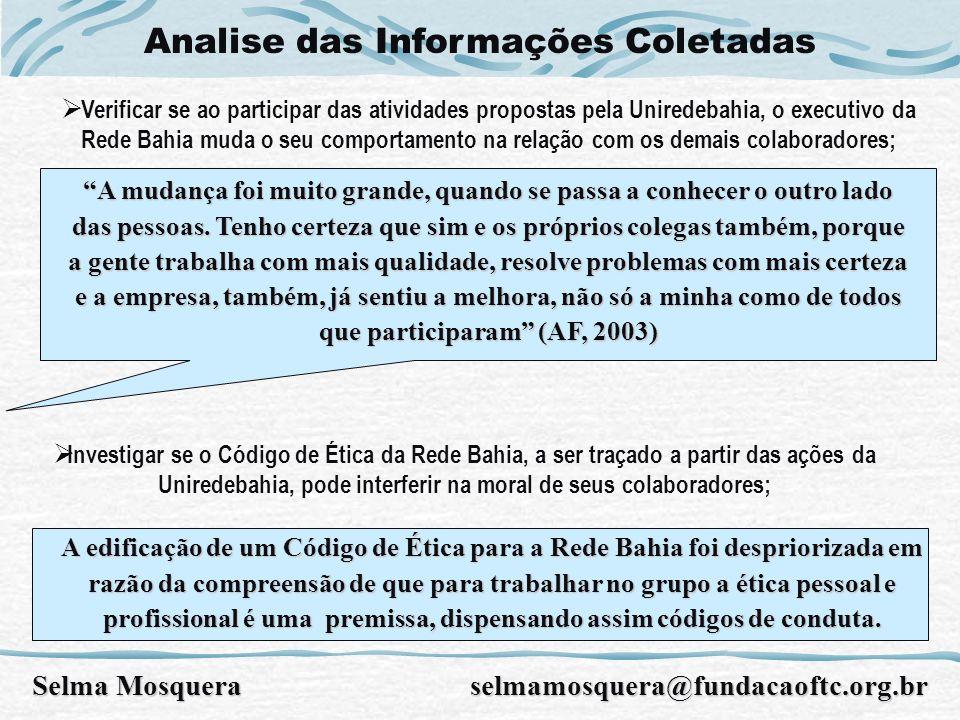Analise das Informações Coletadas