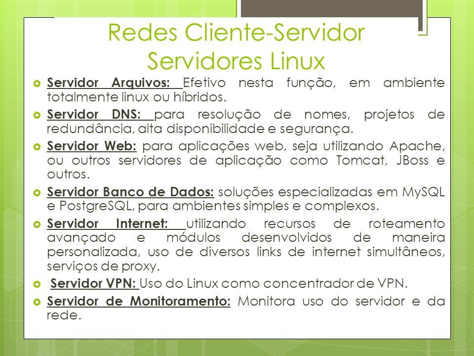 Redes Cliente-Servidor Servidores Linux