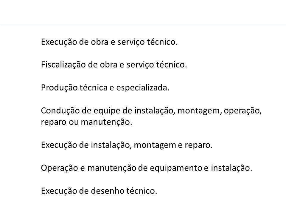 Execução de obra e serviço técnico.