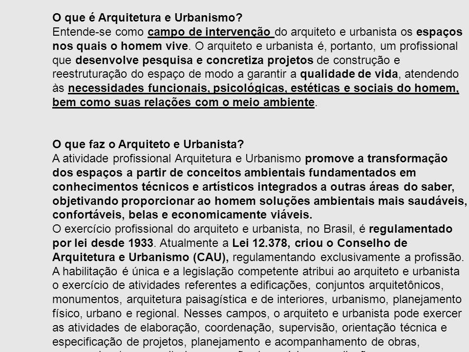 O que é Arquitetura e Urbanismo