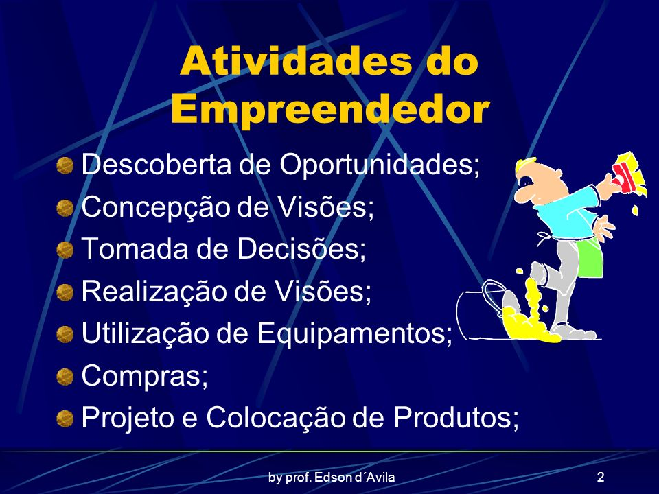 Atividades do Empreendedor
