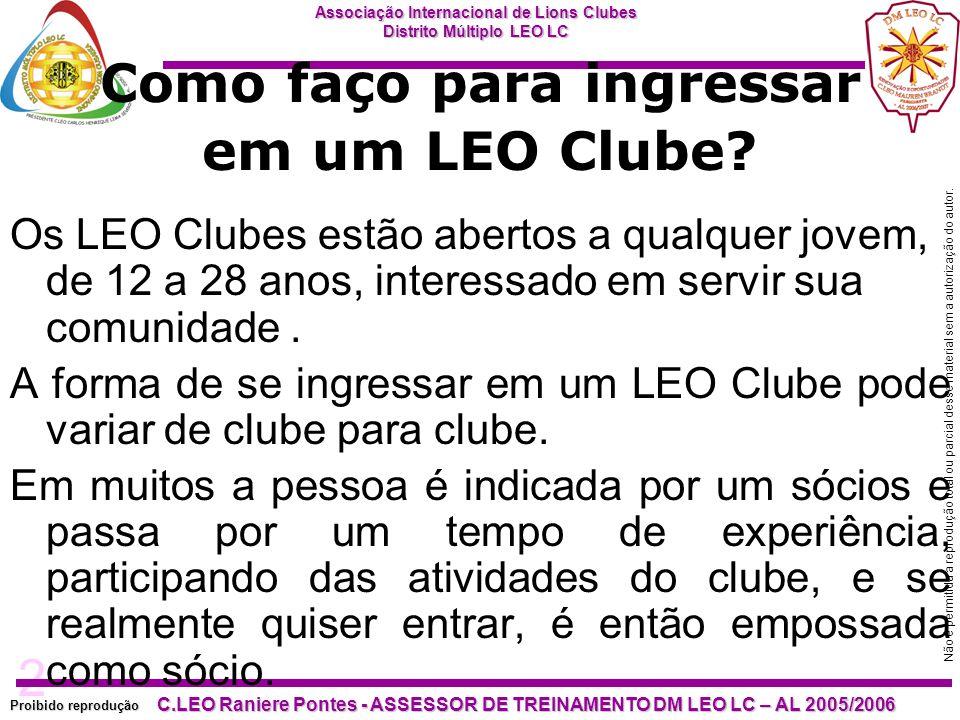 Como faço para ingressar em um LEO Clube