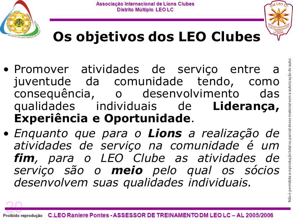 Os objetivos dos LEO Clubes