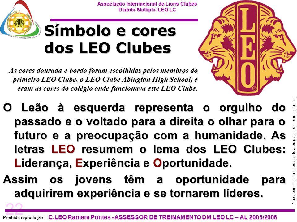 Símbolo e cores dos LEO Clubes