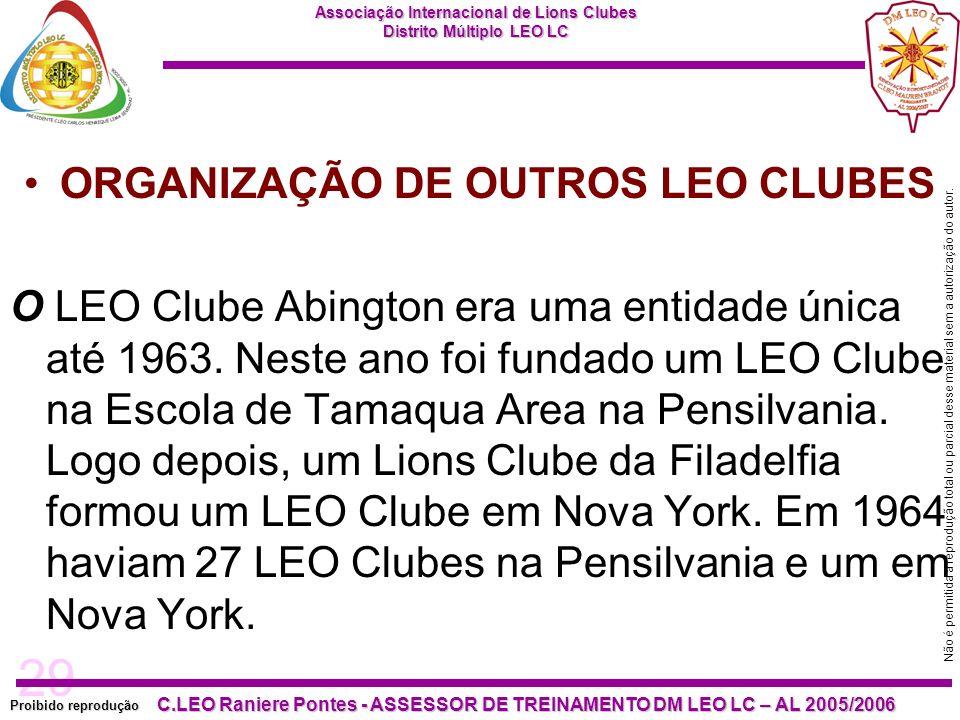 ORGANIZAÇÃO DE OUTROS LEO CLUBES