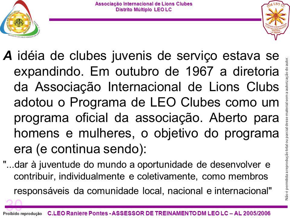 A idéia de clubes juvenis de serviço estava se expandindo