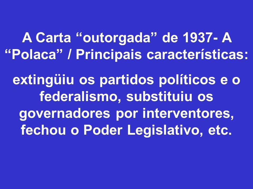 A Carta outorgada de 1937- A Polaca / Principais características: