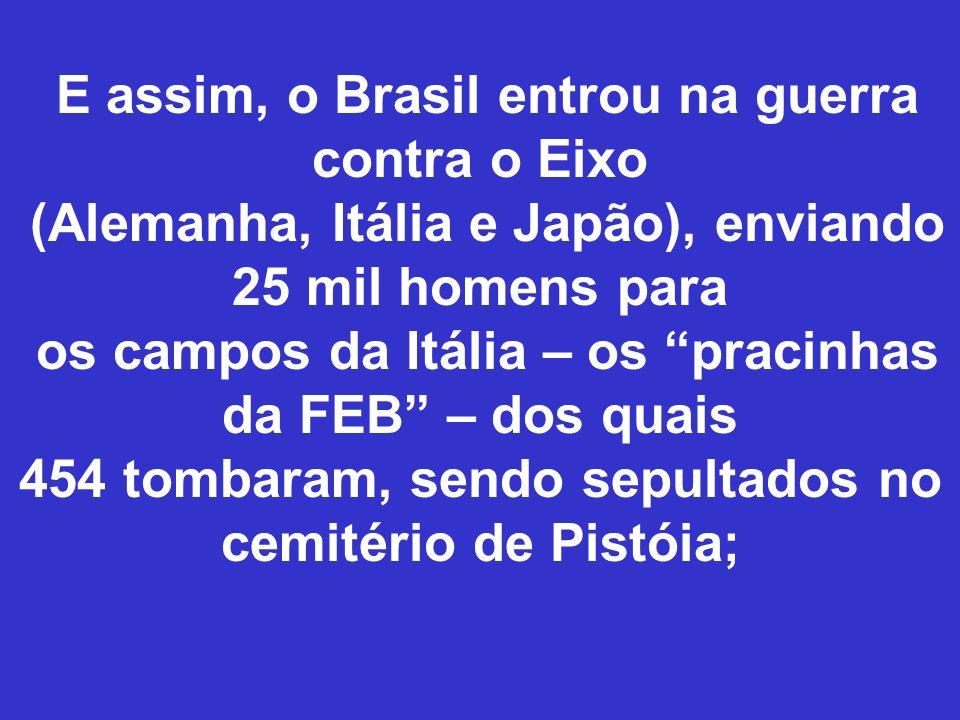 E assim, o Brasil entrou na guerra contra o Eixo