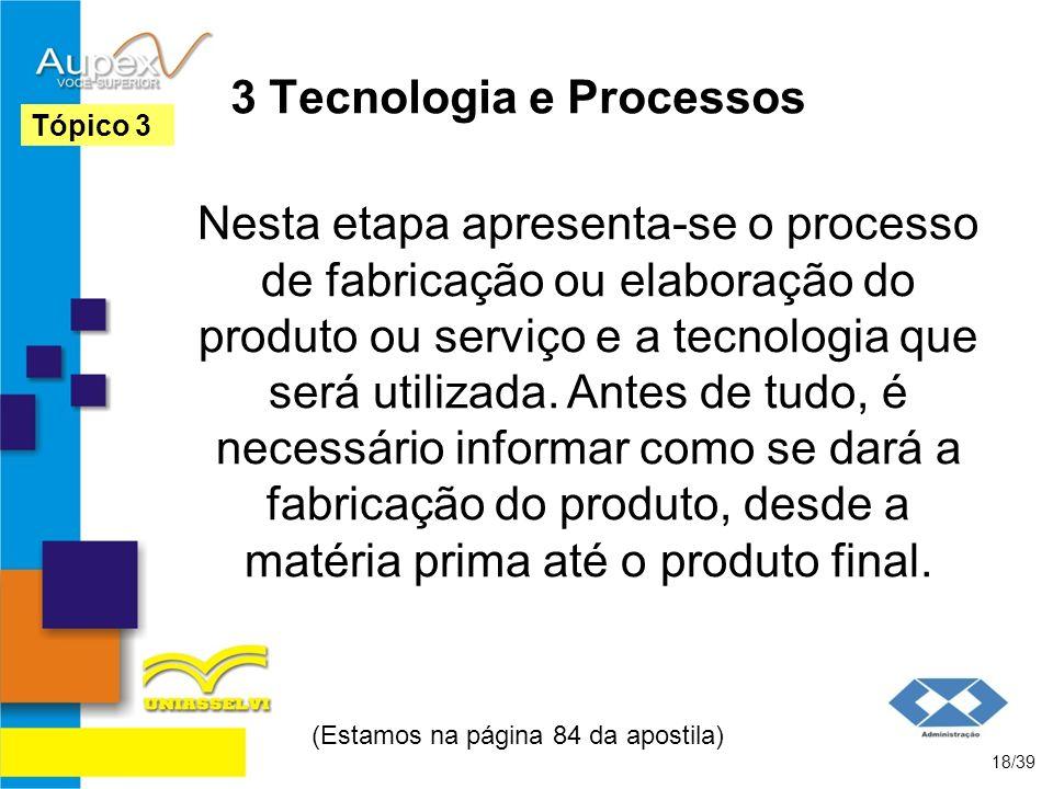 3 Tecnologia e Processos