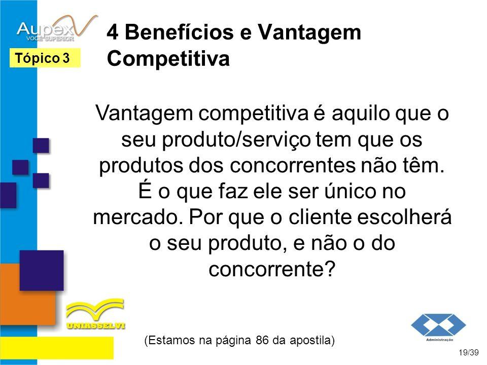 4 Benefícios e Vantagem Competitiva