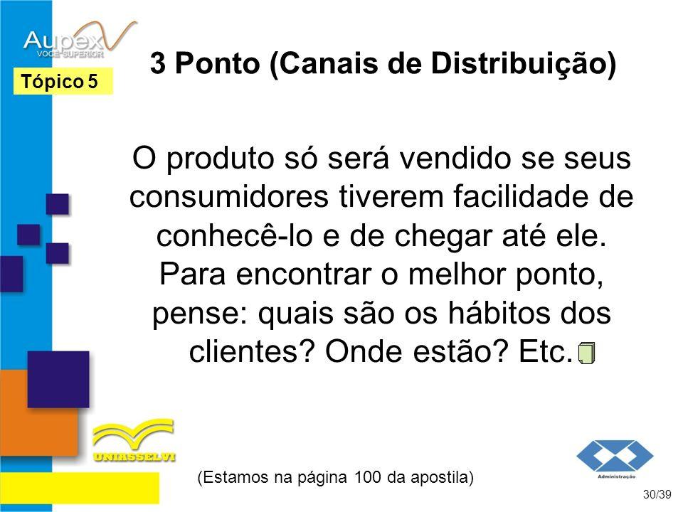 3 Ponto (Canais de Distribuição)