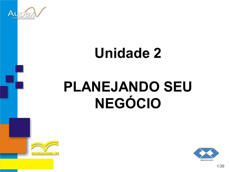 Unidade 2 PLANEJANDO SEU NEGÓCIO