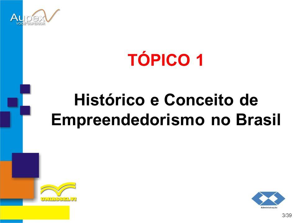 TÓPICO 1 Histórico e Conceito de Empreendedorismo no Brasil