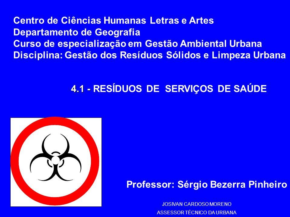 4.1 - RESÍDUOS DE SERVIÇOS DE SAÚDE