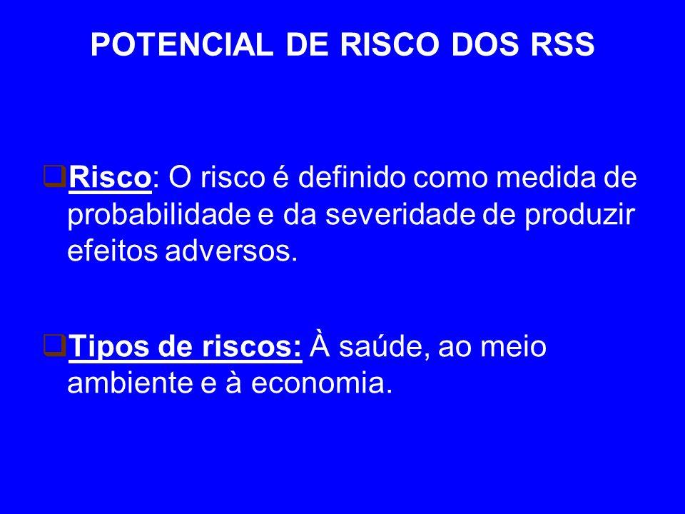 POTENCIAL DE RISCO DOS RSS