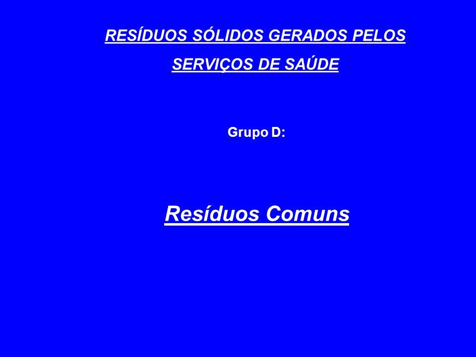 RESÍDUOS SÓLIDOS GERADOS PELOS