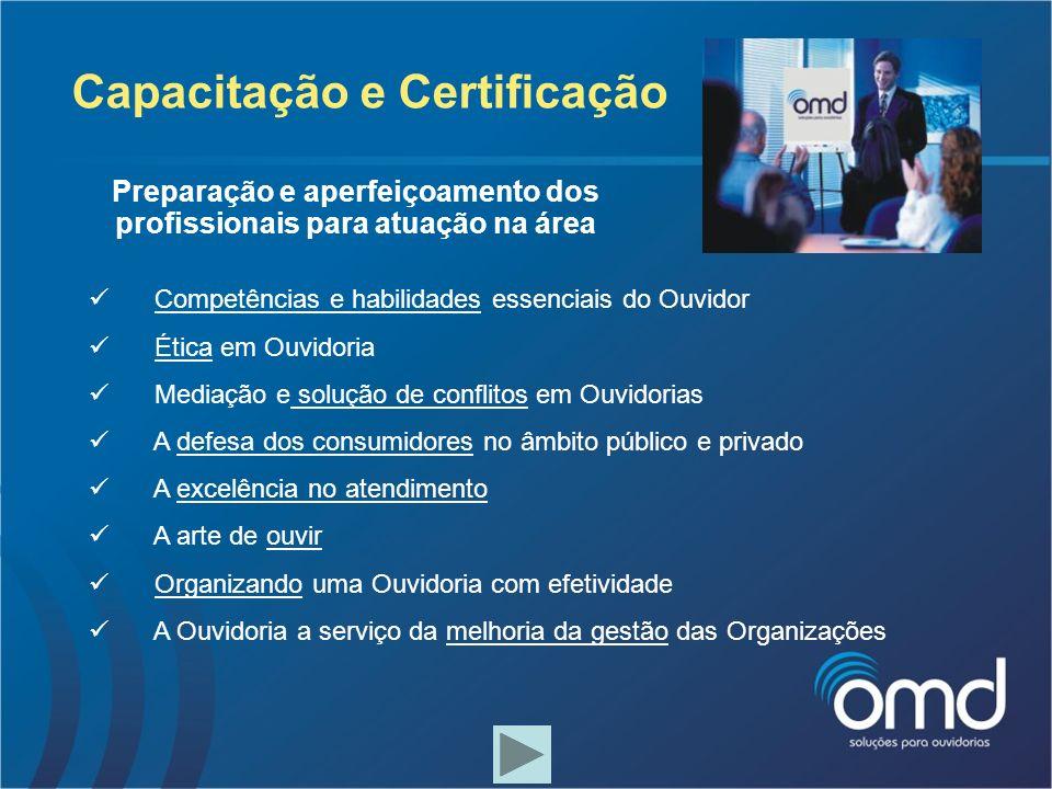 Capacitação e Certificação