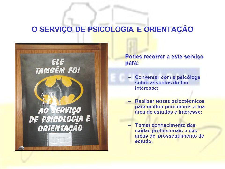 O SERVIÇO DE PSICOLOGIA E ORIENTAÇÃO