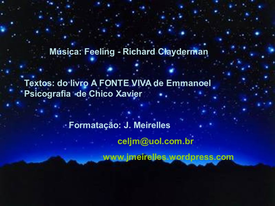 Música: Feeling - Richard Clayderman