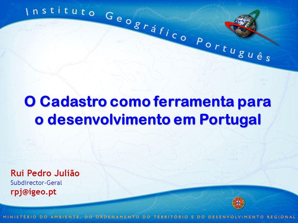 O Cadastro como ferramenta para o desenvolvimento em Portugal