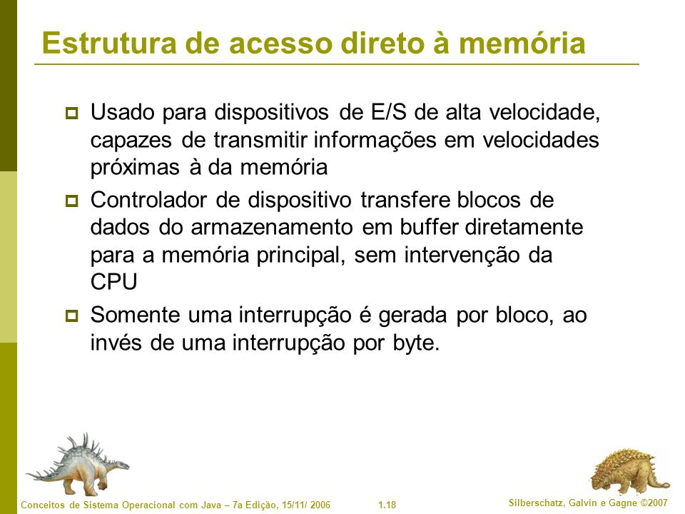 Estrutura de acesso direto à memória