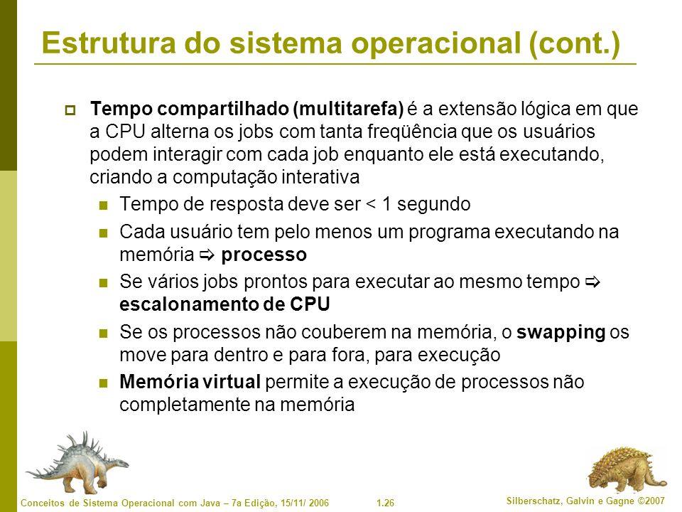Estrutura do sistema operacional (cont.)