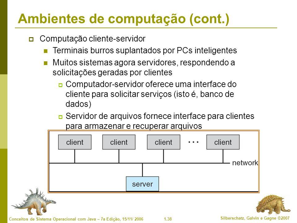 Ambientes de computação (cont.)