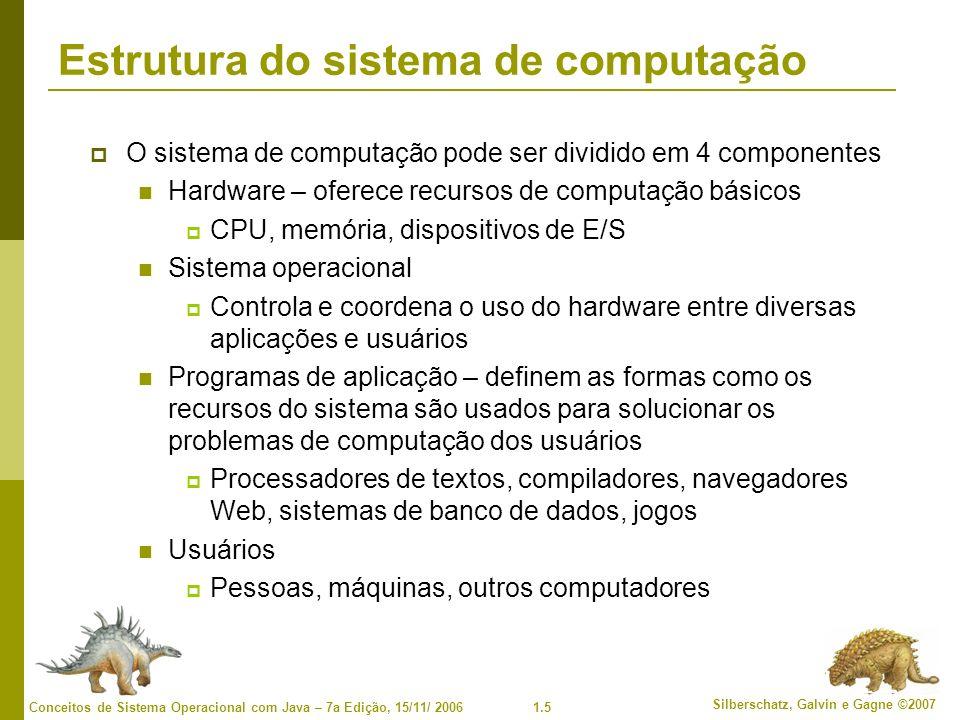 Estrutura do sistema de computação