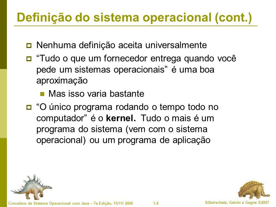 Definição do sistema operacional (cont.)