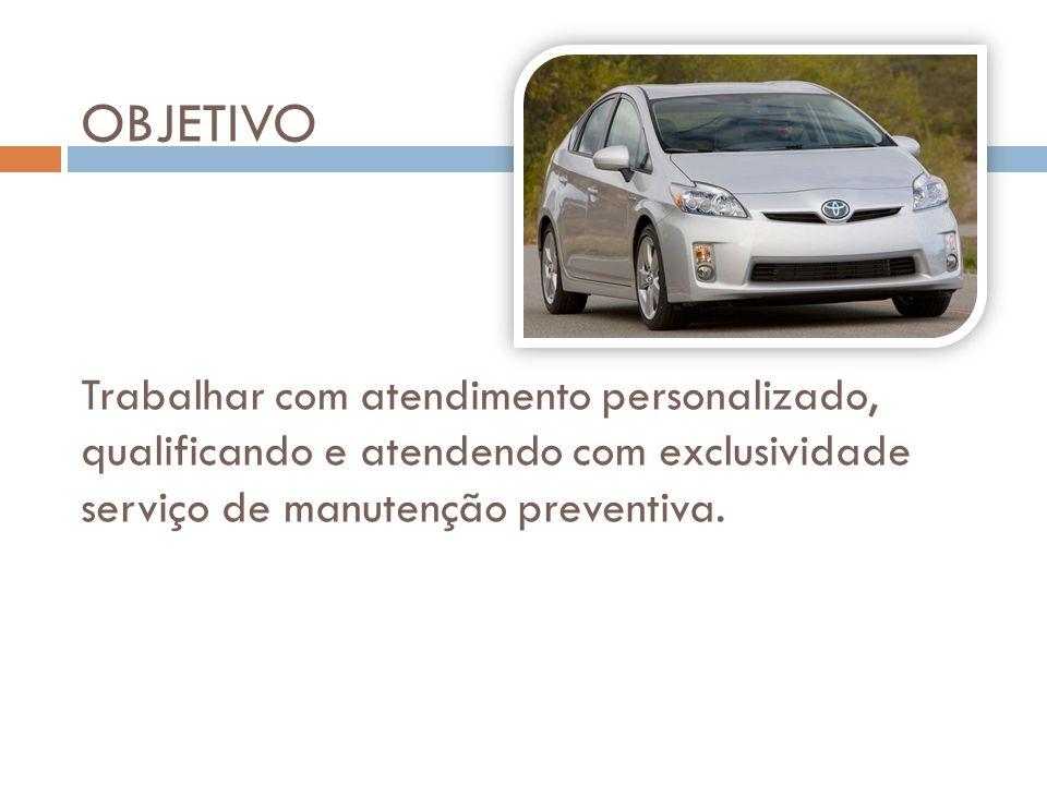 OBJETIVO Trabalhar com atendimento personalizado, qualificando e atendendo com exclusividade serviço de manutenção preventiva.