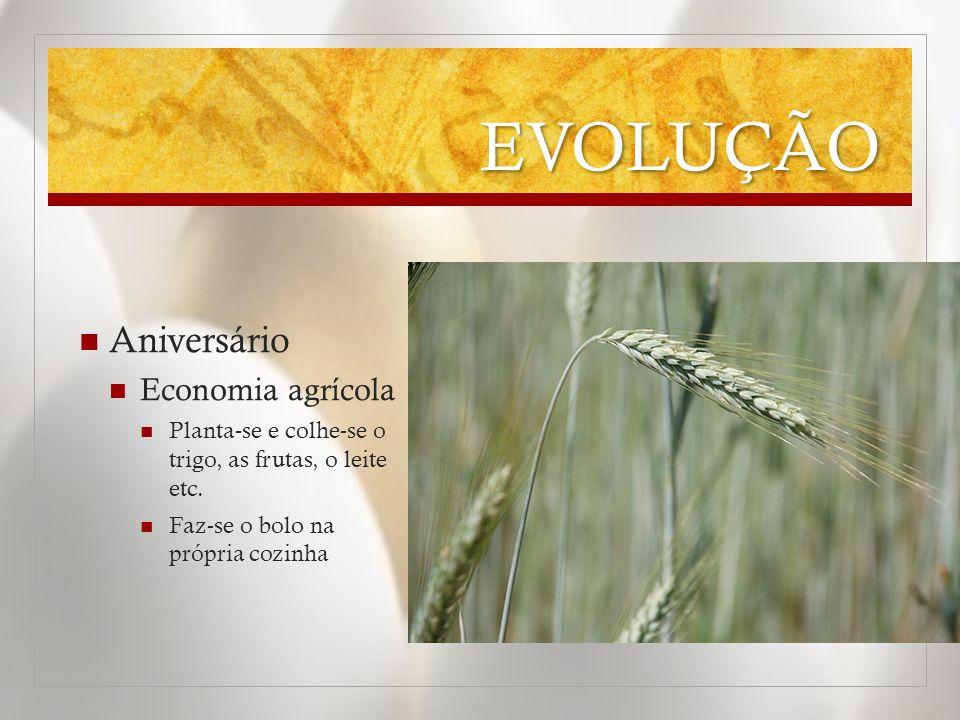 EVOLUÇÃO Aniversário Economia agrícola