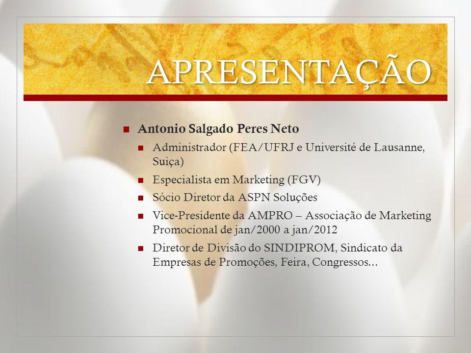 APRESENTAÇÃO Antonio Salgado Peres Neto