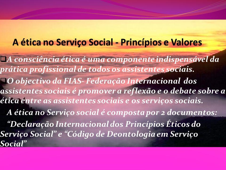 A ética no Serviço Social - Princípios e Valores
