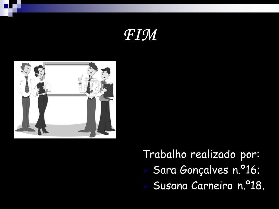 FIM Trabalho realizado por: Sara Gonçalves n.º16;