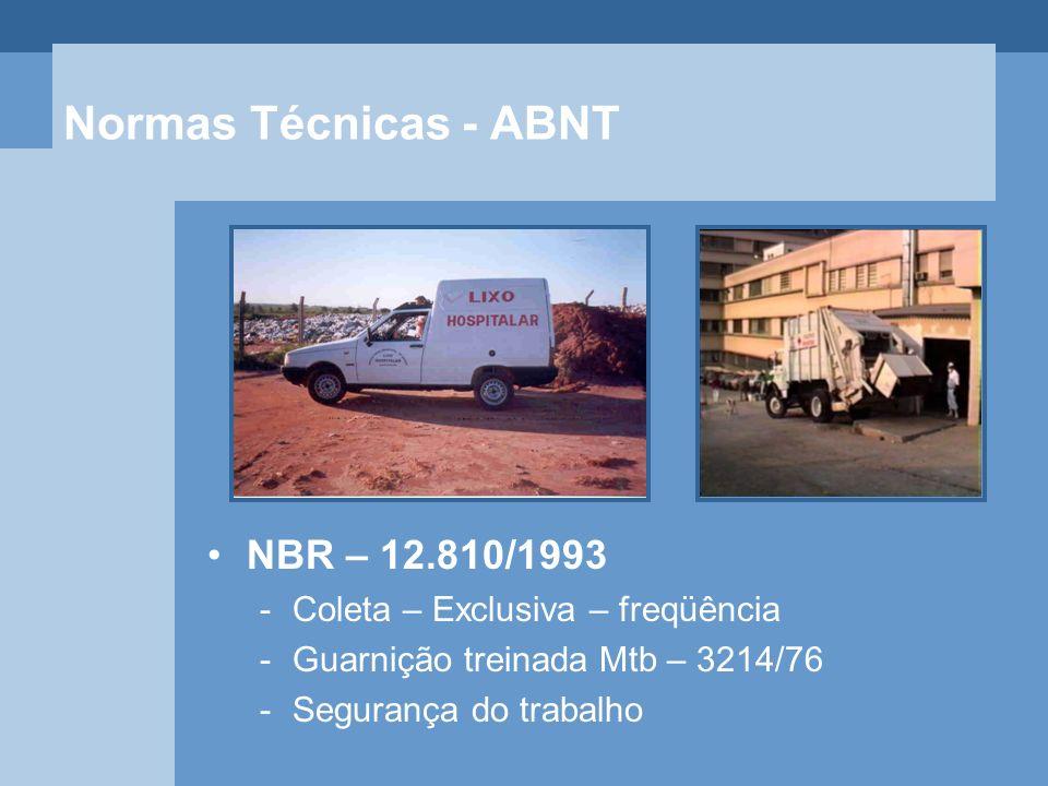 Normas Técnicas - ABNT NBR – 12.810/1993