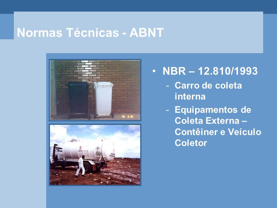 Normas Técnicas - ABNT NBR – 12.810/1993 Carro de coleta interna