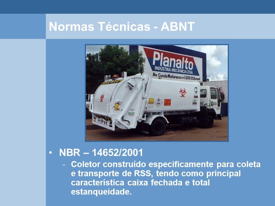 Normas Técnicas - ABNT NBR – 14652/2001
