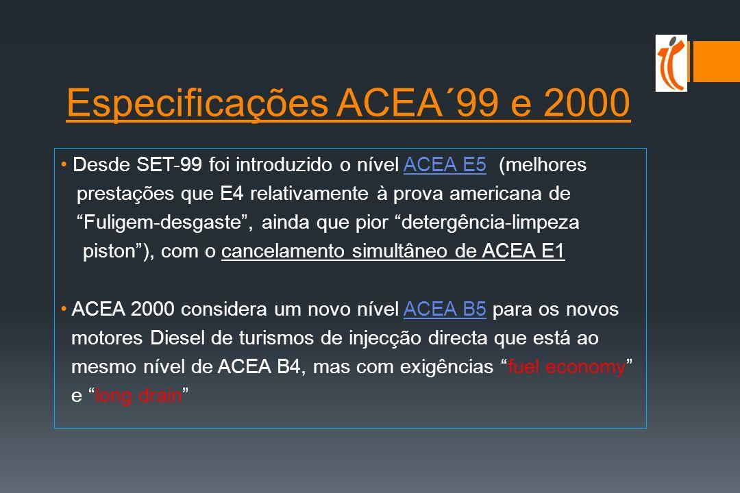 Especificações ACEA´99 e 2000