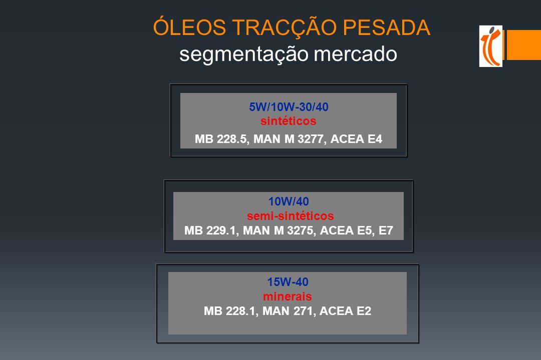 ÓLEOS TRACÇÃO PESADA segmentação mercado