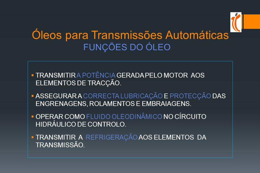 Óleos para Transmissões Automáticas FUNÇÕES DO ÓLEO