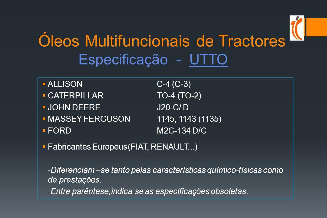 Óleos Multifuncionais de Tractores Especificação - UTTO