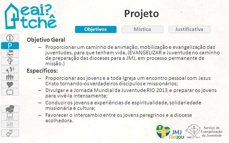 Projeto  P          Objetivo Geral Específicos: Objetivos