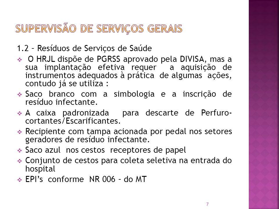 SUPERVISÃO DE SERVIÇOS GERAIS