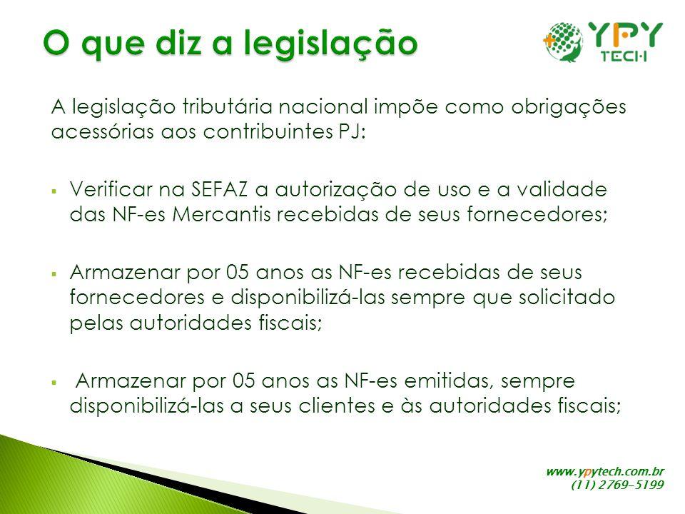 O que diz a legislação A legislação tributária nacional impõe como obrigações acessórias aos contribuintes PJ: