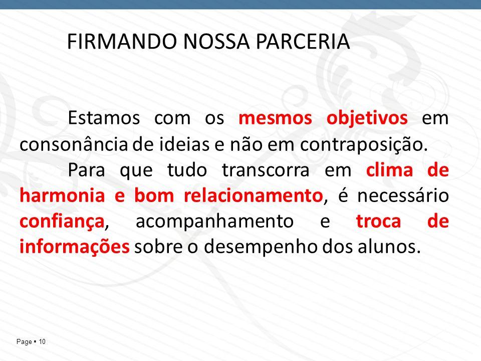 FIRMANDO NOSSA PARCERIA