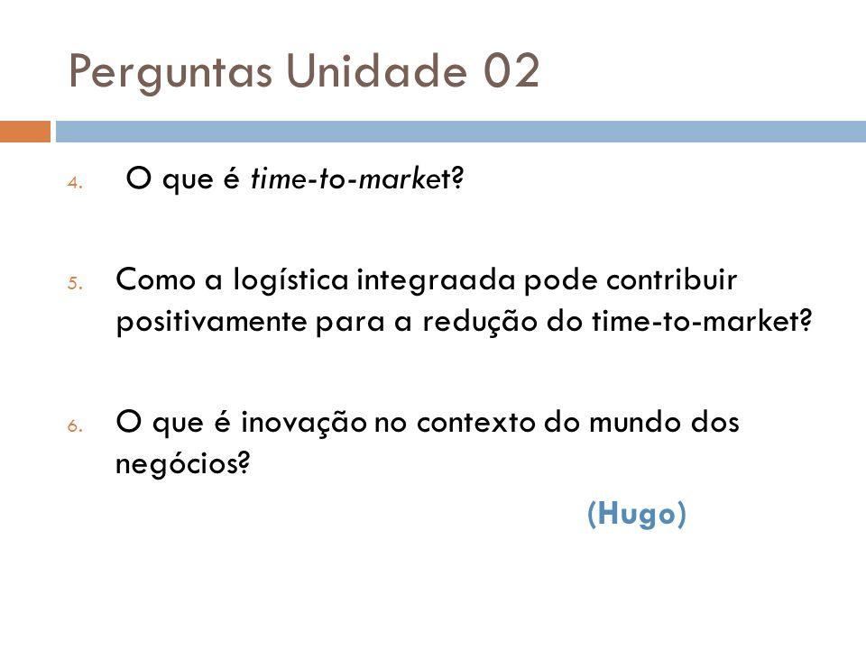 Perguntas Unidade 02 O que é time-to-market