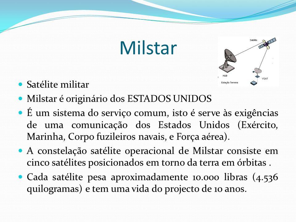 Milstar Satélite militar Milstar é originário dos ESTADOS UNIDOS