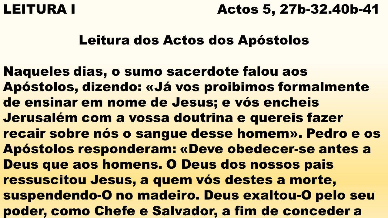 Leitura dos Actos dos Apóstolos